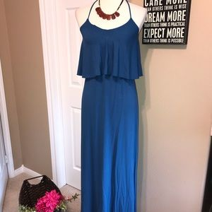 Nwot Tommy Bahama halter tiered maxi dress small